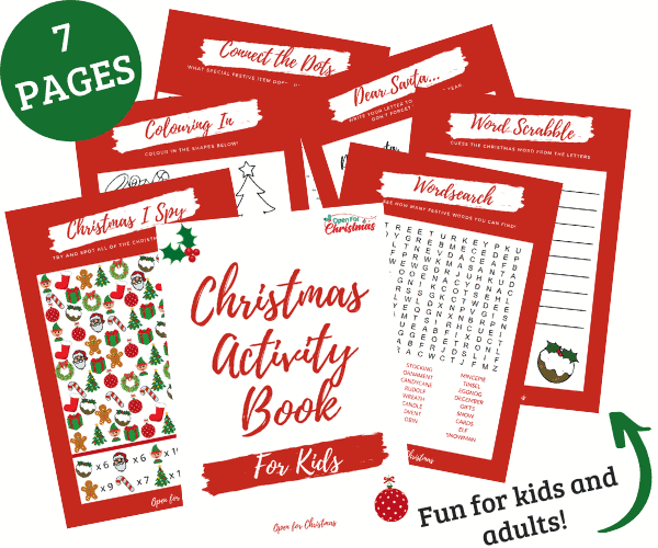 Christmas Activity Book - Resource Library - Open for Christmas
