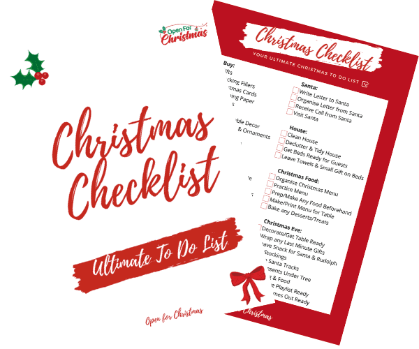 Christmas Checklist - Resource Library - Open for Christmas