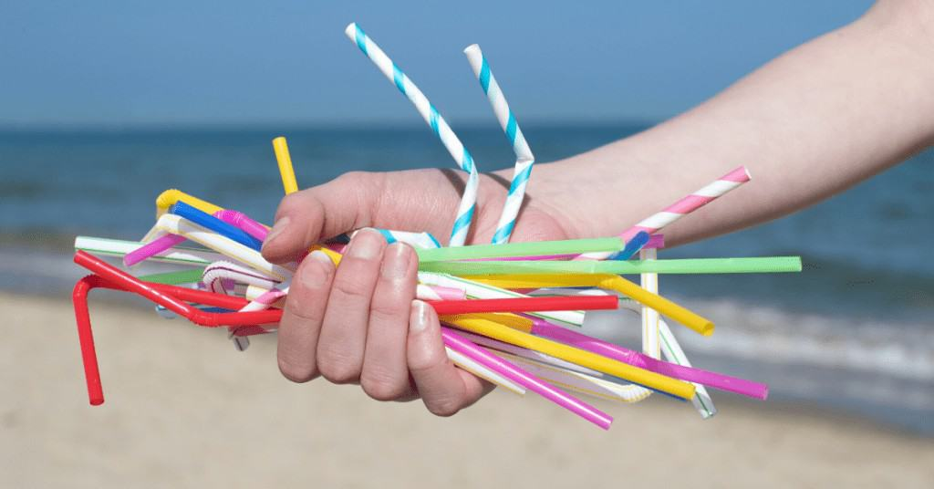 Eco-Friendly-Gifts-Christmas-Straws-on-Polluted-Beach
