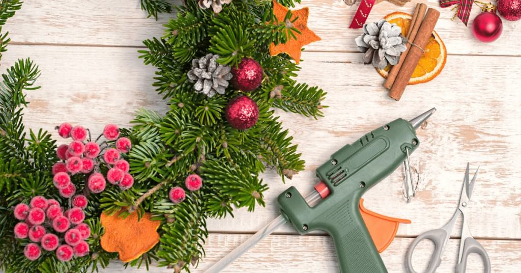 How-to-Make-a-Christmas-Wreath-Glue-Gun-Decorations