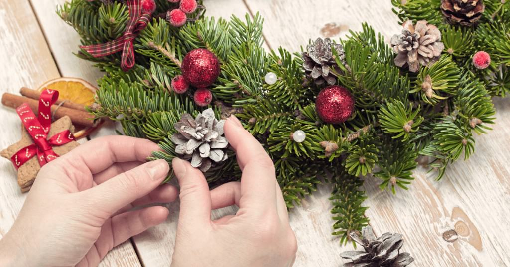 How-to-Make-a-Christmas-Wreath-Wire-Cone