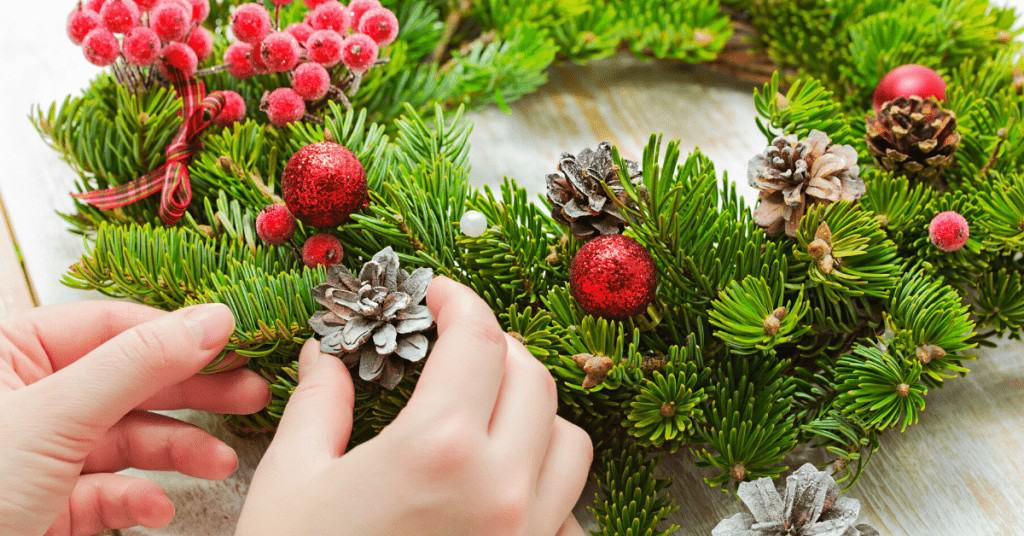 Things-to-do-This-Christmas-Making-Wreath