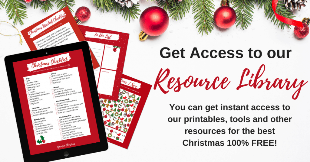 Access to Resource Library - Open for Christmas