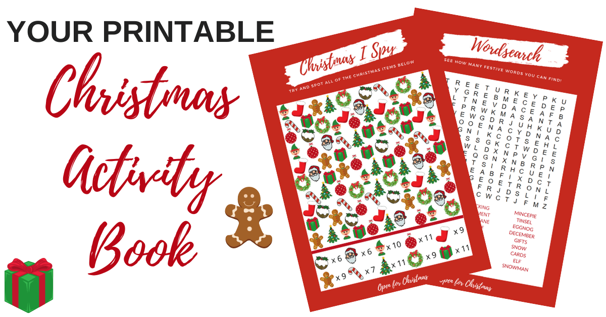 Christmas Activity Book to Print & Download