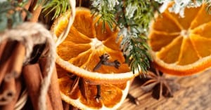 Christmas Oranges on Tree - Victorian Christmas Decorations - Open for Christmas