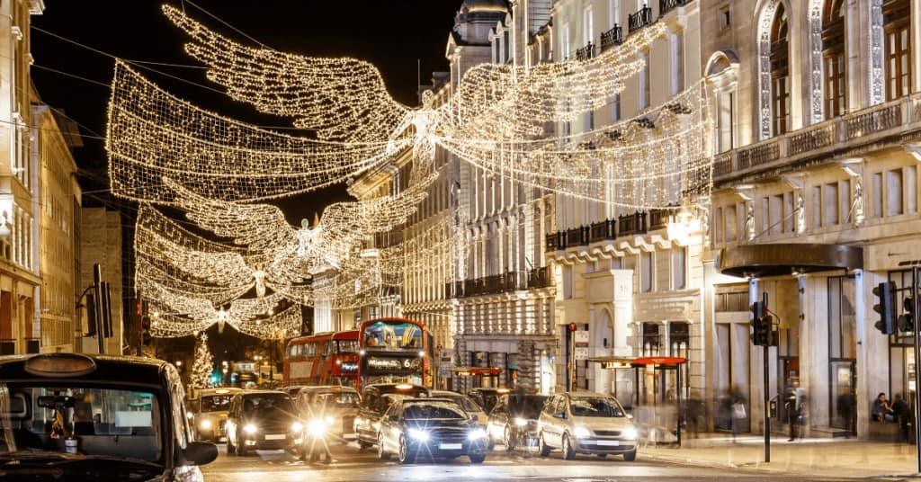 Christmas in England - London Christmas Lights