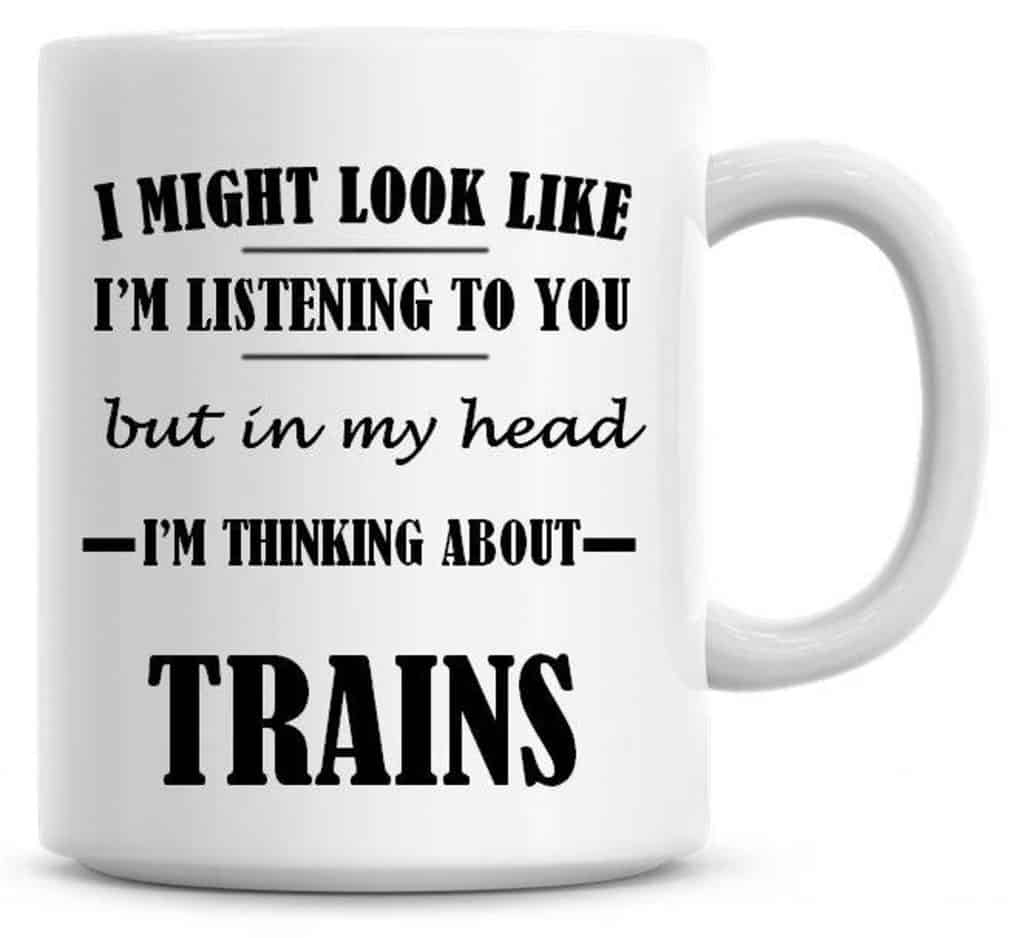 Coffee Mug Funny Humor Cool Gifts for Train Lovers UK