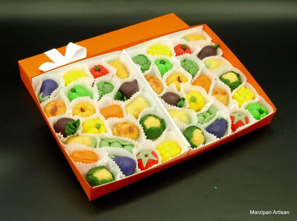 Marzipan Fruits & Vegetables - Food Lovers Food Gifts for Christmas