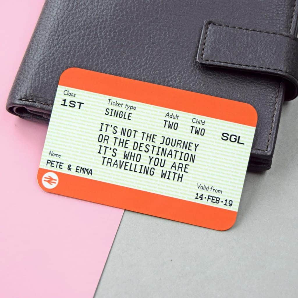 Personalised Train Ticket - Cool Gifts for Train Lovers UK