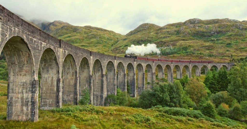 Steam Train on High Bridge - Cool Gifts for Train Lovers UK