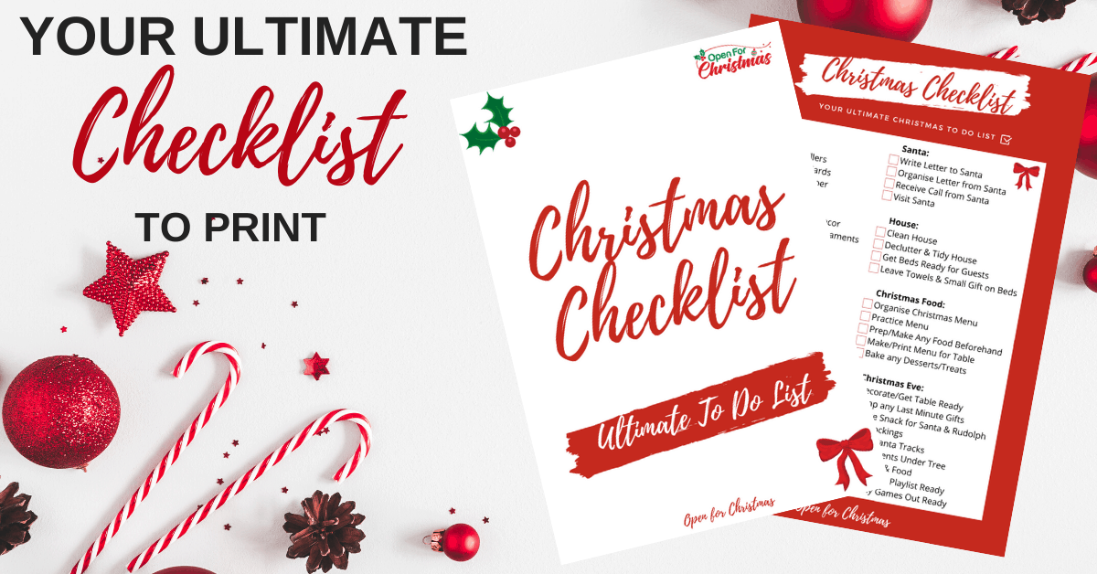 Your Ultimate Christmas Checklist to Print & Download