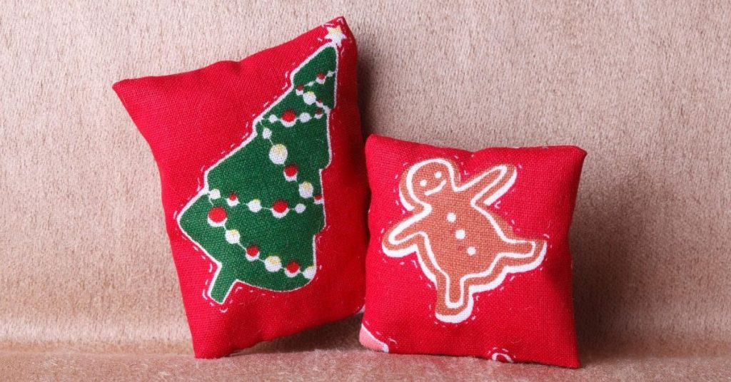 2 Red Christmas Cushion Covers - From the UK - Open for Christmas