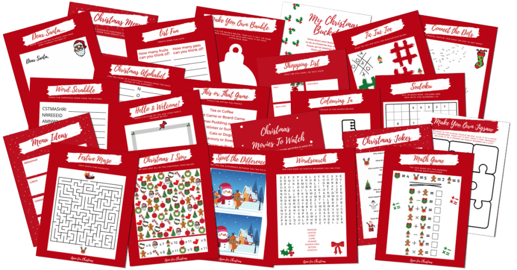 Christmas Activity Book - What's Inside