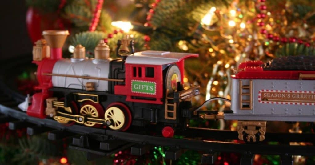 Christmas Tree Train Set - Christmas Train Sets Under The Tree