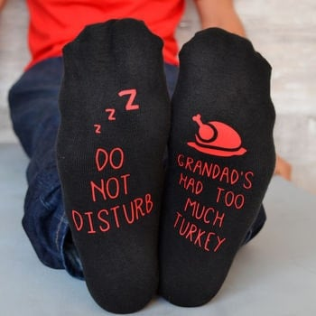 Do not disturb too much turkey socks - Christmas present - Open for Christmas