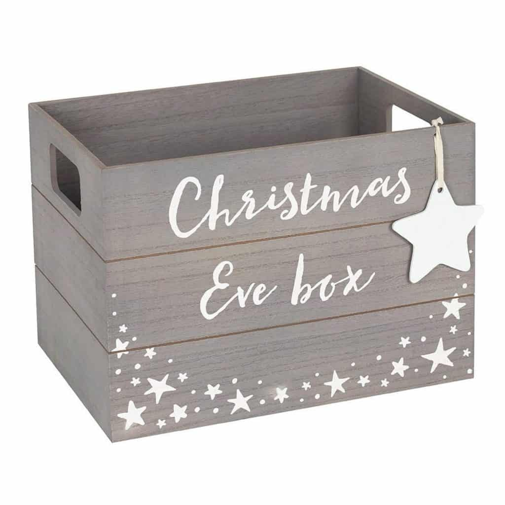 Grey Personalised Christmas Eve Crate - Open for Christmas
