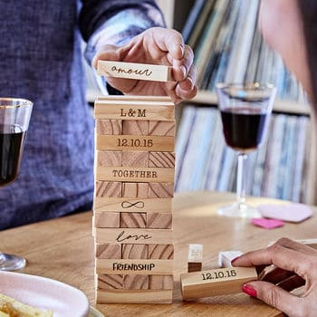 Photo of Personalised Couples Wooden Stacking Tower Game - Best Christmas Gifts for Couples Who Have Everything