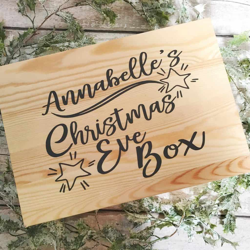Pre Filled Personalised Christmas Eve Box Full of Treats
