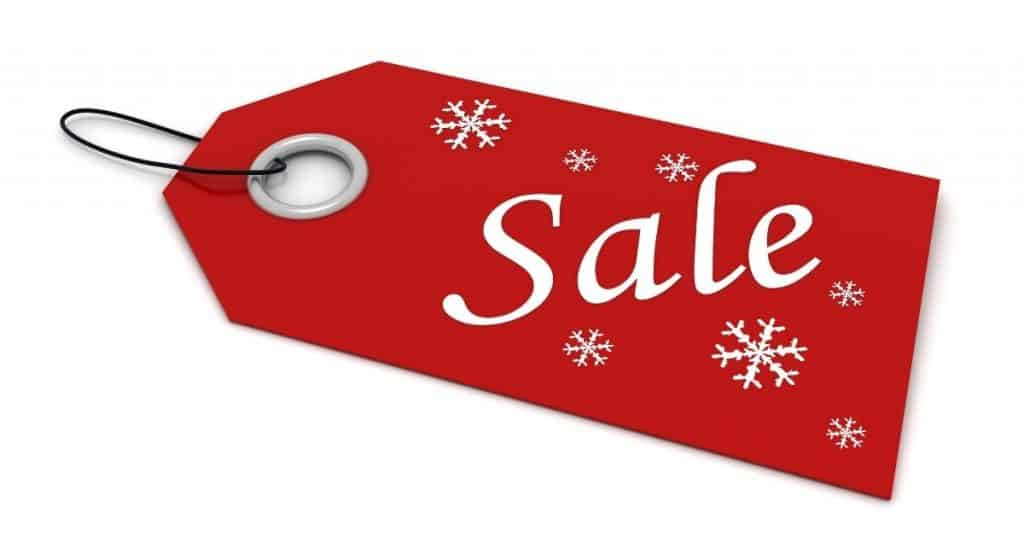 Christmas shopping sale tag - tips on how to shop this holiday - Open for Christmas
