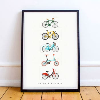 Cycle and The City Poster - Cycling Gifts for Men UK - Open for Christmas