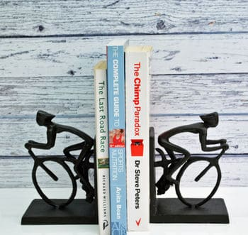 Cyclist Bookends - Cycling Gifts for Him in the UK - Open for Christmas