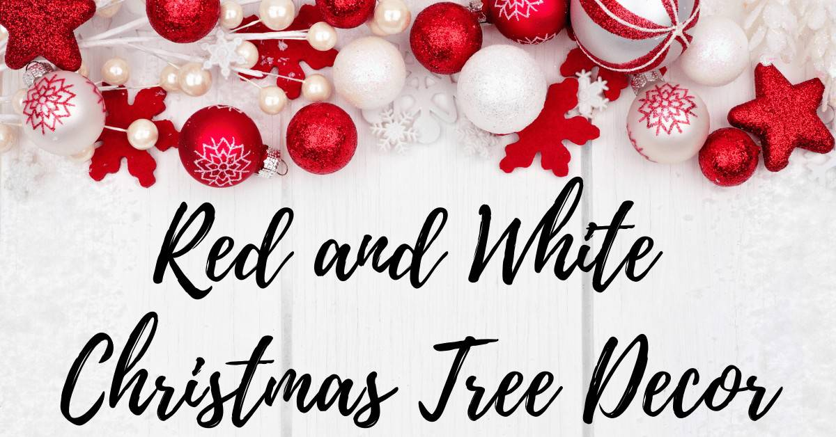 Red and white bauble ornaments on a white background - Christmas Tree Decor - Open for Christmas