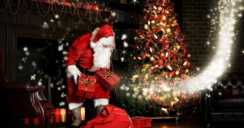 Santa Coming Through Chimney and Delivering Presents - Who is Kris Kringle - Open for Christmas