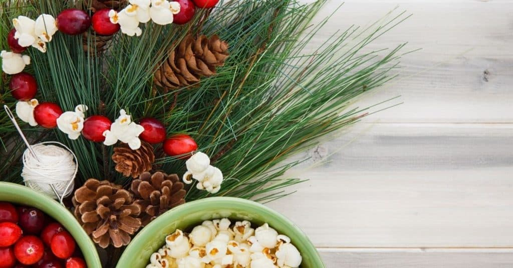 Stringing Popcorn - How to Decorate and Put Tinsel On a Christmas Tree - Open for Christmas