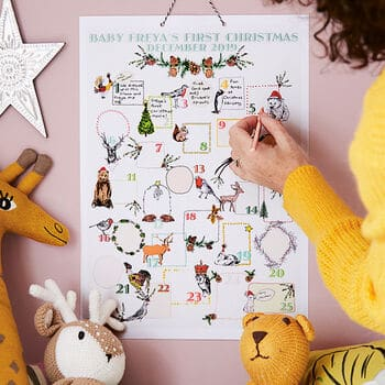 Baby's First Christmas Advent Calendar - Open for Christmas