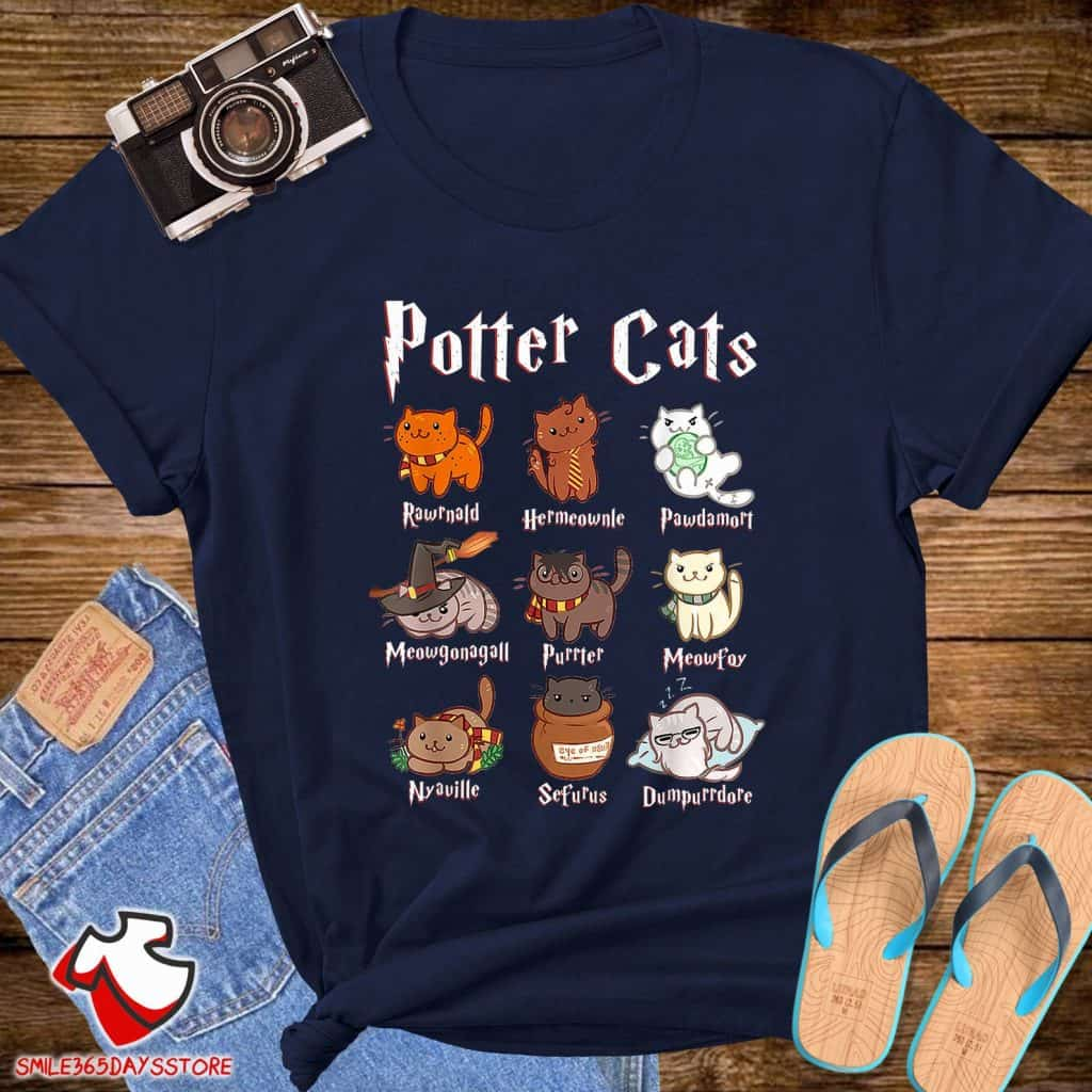 Harry Potter Cats T Shirt Christmas Ideas - Open for Christmas