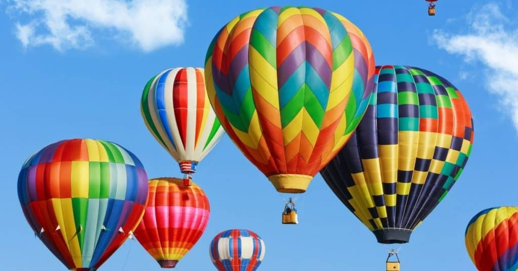 Hot Air Balloons in the Sky - Gift Ideas for Families Who Has Everything - Open for Christmas