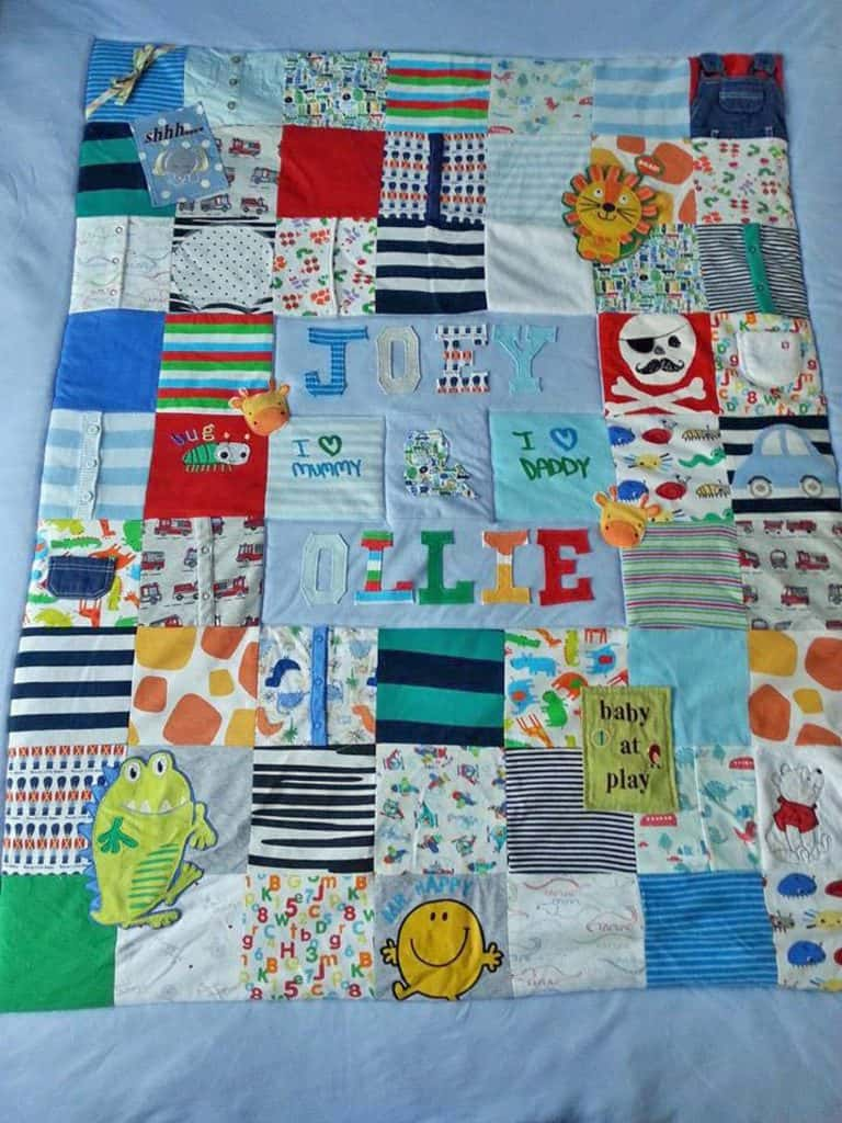 Keepsake Quilt for Baby's First Christmas - Gift Present Ideas - Open for Christmas