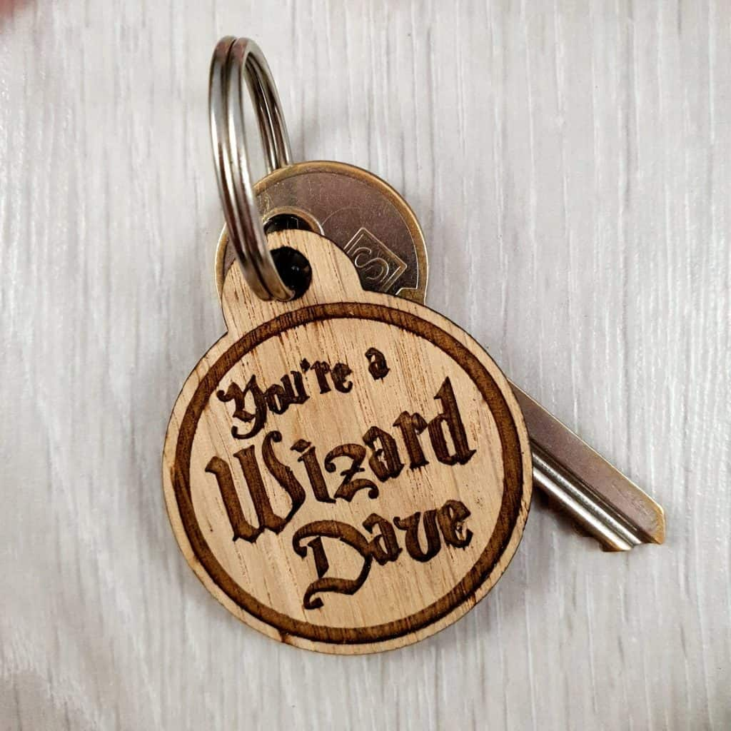 Personalised Harry Potter Keyring - Open for Christmas