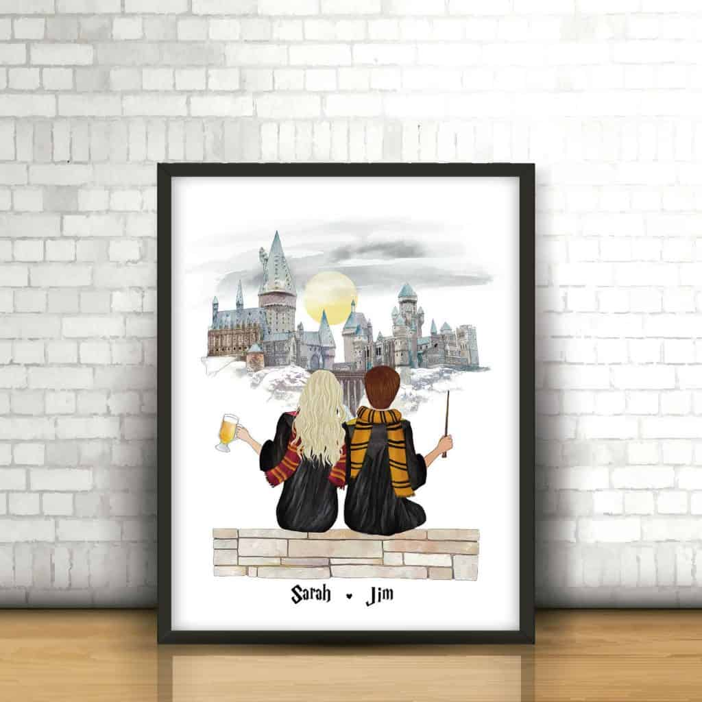 Personalised Harry Potter Print Christmas Ideas - Open for Christmas