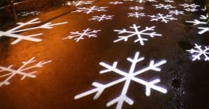 Snowflakes Projection - Christmas lights projector reviews - Open for Christmas