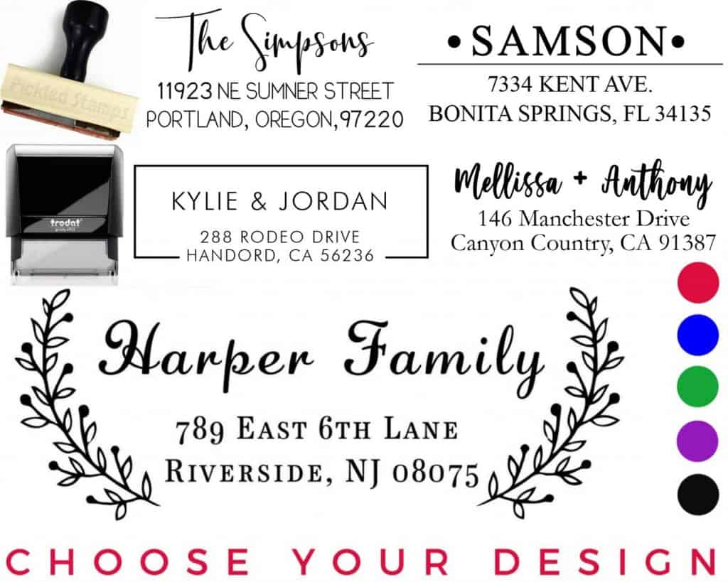 Address Stamp Self Inking for the Best Housewarming Gifts