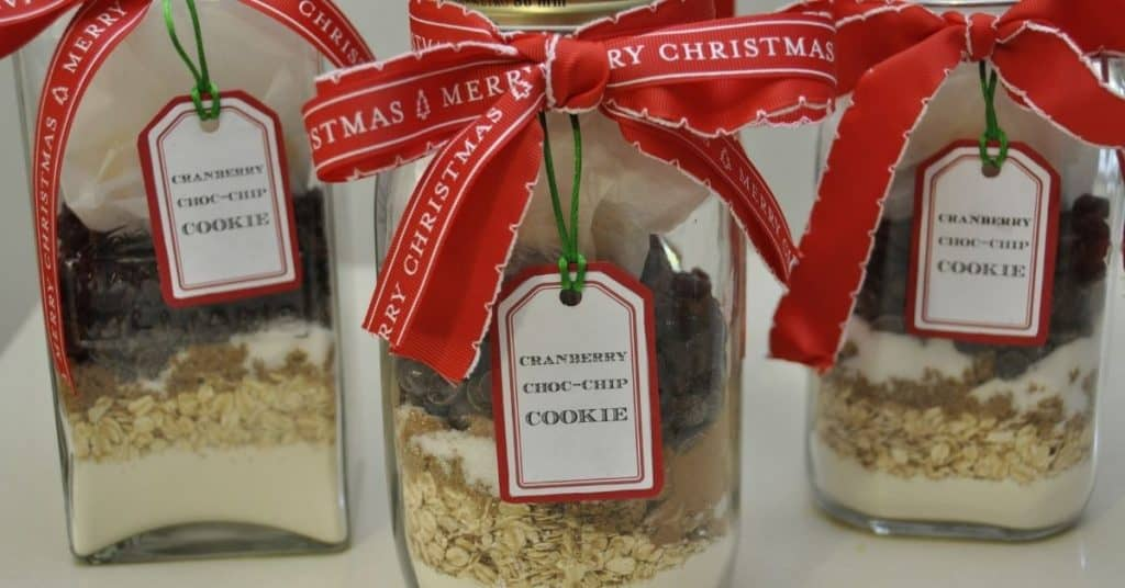 Christmas Cookies Layered in a Jar - Cheap Christmas Gifts Under $10 - Open for Christmas