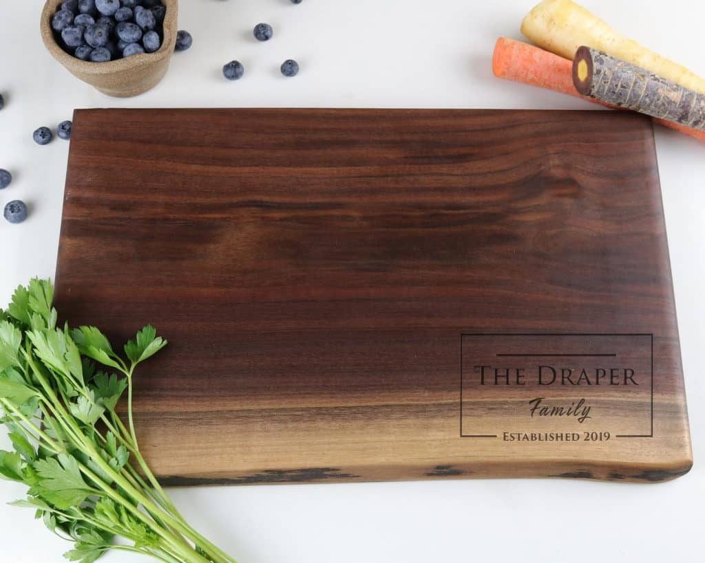 Customized Charcuterie Board - What to Buy Your Boss for Christmas - Open for Christmas