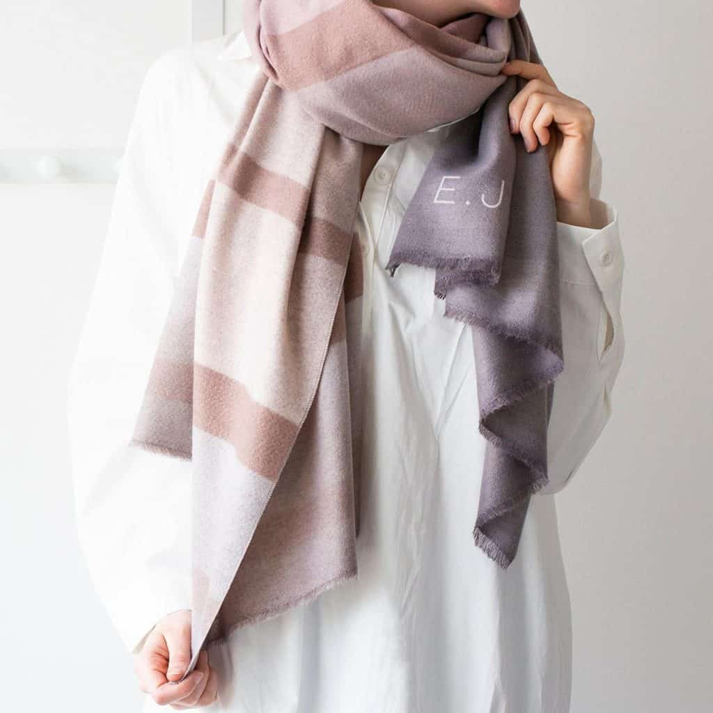 Personalised Ombre Colour Shades Scarf - Christmas Gift Ideas for Boss - Open for Christmas