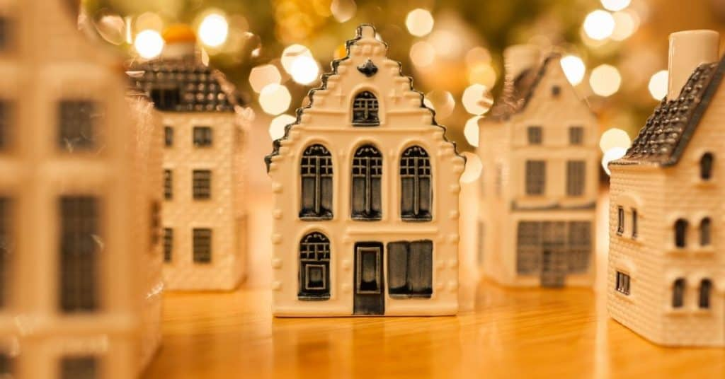 The Best Christmas Village Set Lit Up - Open for Christmas