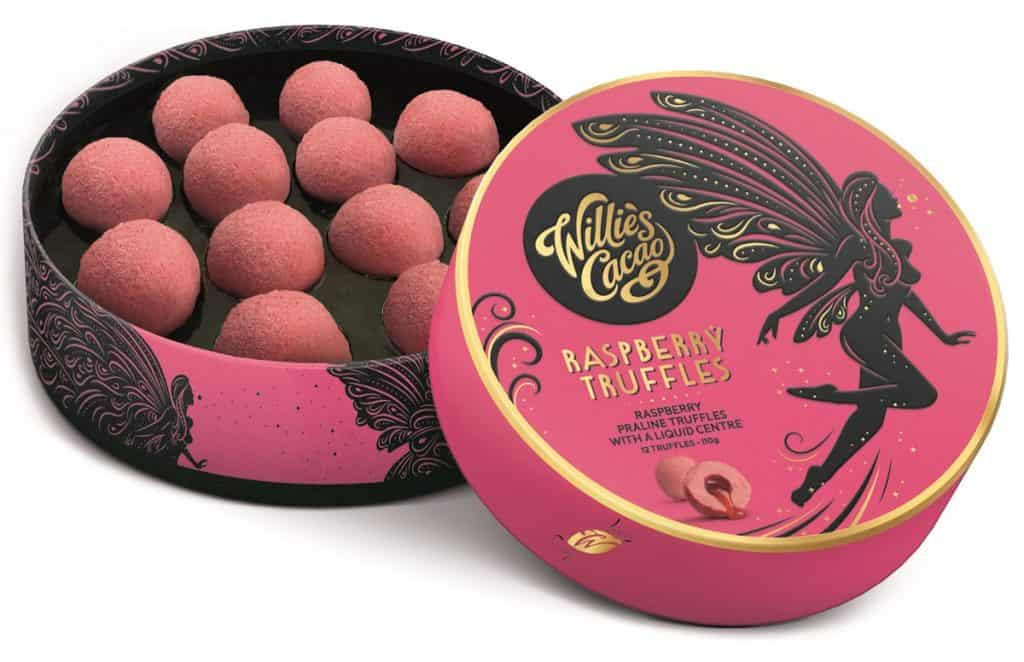 Willies-Raspberry-Truffles - Cheap Stocking Fillers Stuffers for Her Teenagers - Open for Christmas