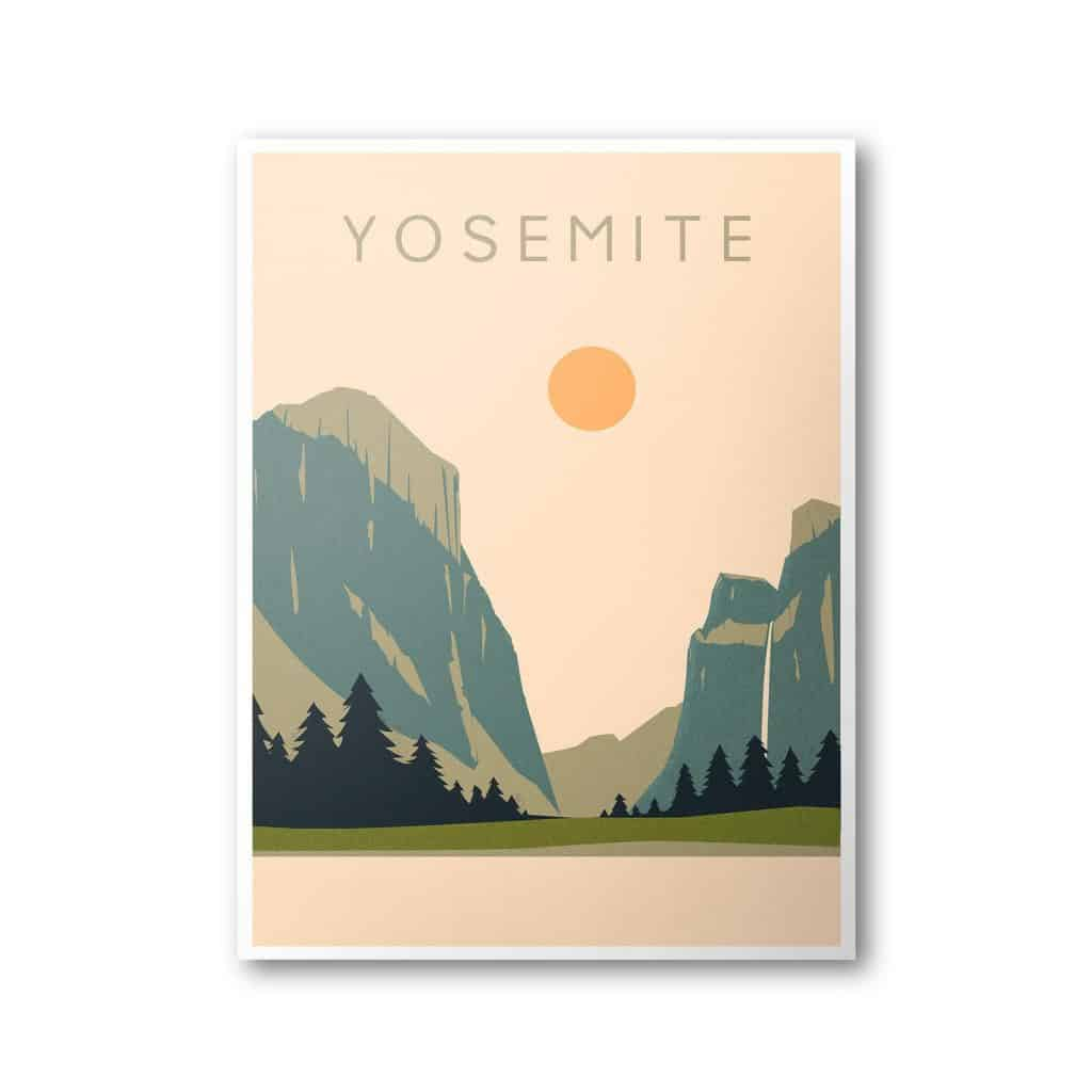 Yosemite National Park Poster - Christmas Gifts Under 5 Dollars - Open for Christmas