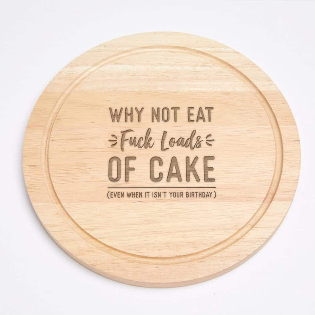 Engraved Cutting Board - Quirky Baking Gift Idea - Open for Christmas