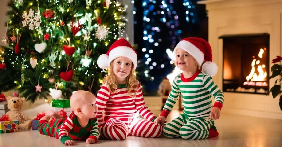 Matching Christmas Family Pajamas - Open for Christmas