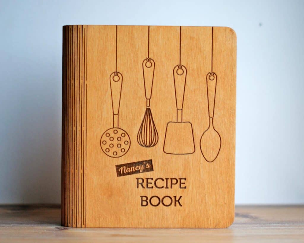 Personalized Recipe Book Cookbook - Quirky Baking Gifts - Open for Christmas