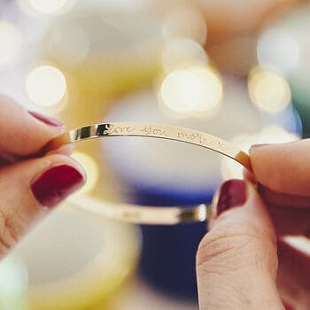 Personalised Flat Bangle by Not on the High Street Gifts for Woman